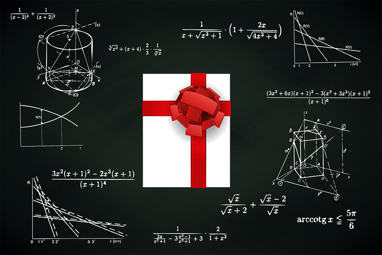 gift-box-on-blackboard-with-math-calculations