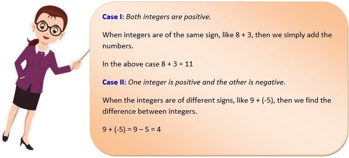 integer addition and subtraction