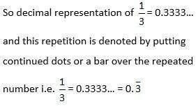 fractions and repeating decimals