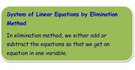 linear equation eith elimination and substitution