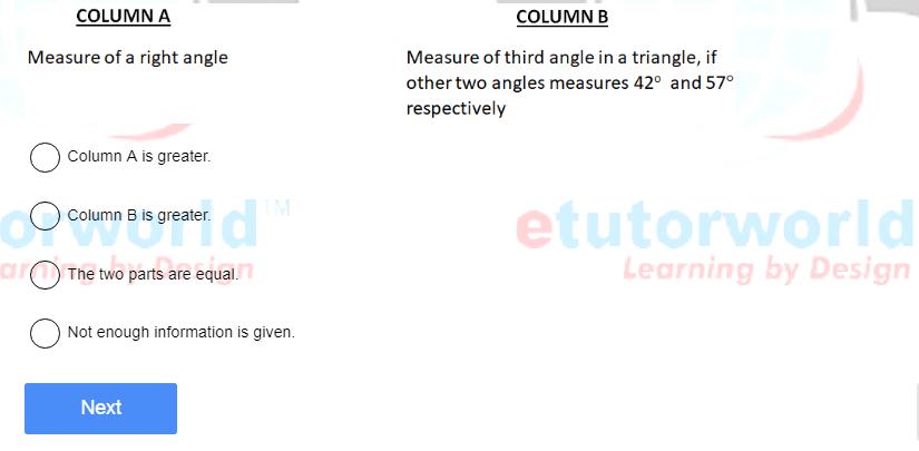 SCAT sample question - quantitative