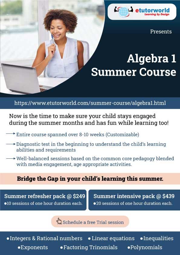 Algebra 1 Summer Course