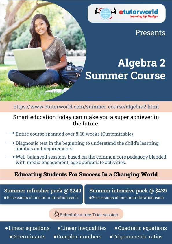 Algebra 2 Summer Course