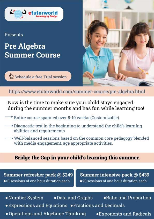 Pre Algebra Summer Course