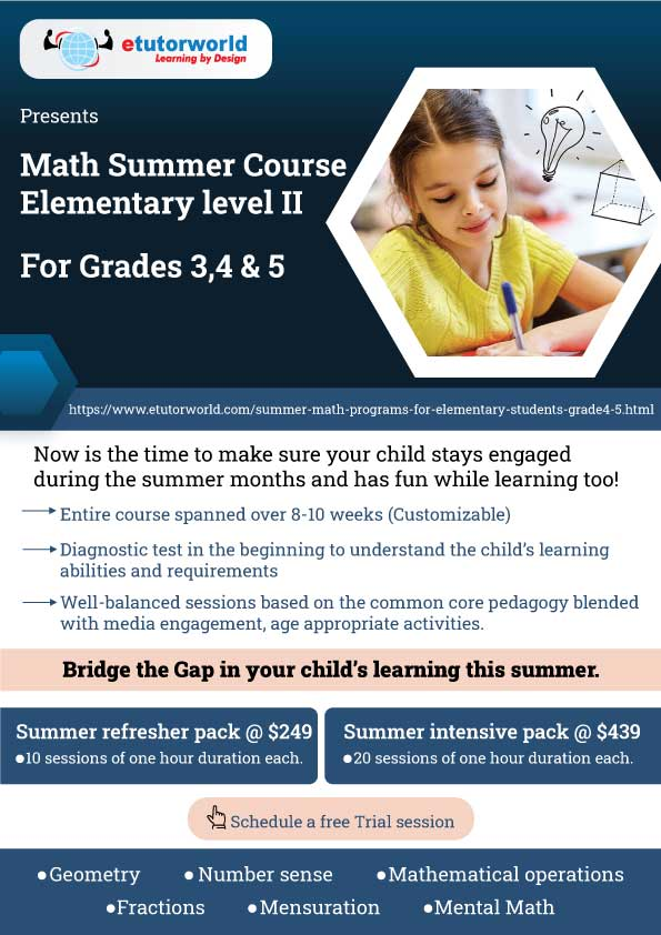Summer Course Elementary Level 2